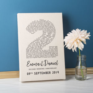 Personalised Anniversary Cotton Canvas - family & home