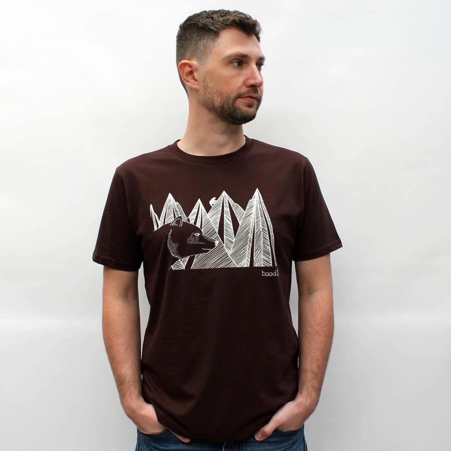 Organic Mountain Bear T Shirt