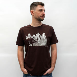 Organic Mountain Bear T Shirt - Mens T-shirts & vests