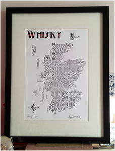 Whisky Map - food & drink prints