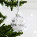 'Personalised In Loving Memory Christmas Bauble