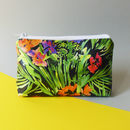 Tropical Floral Vibrant Waterproof Cosmetic Bag