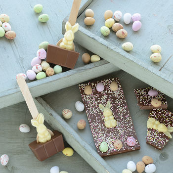 Easter Bunny Hot Chocolate Spoon And Bar Gift Set