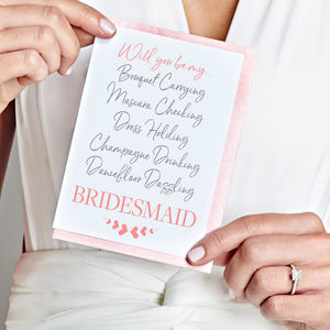 'Will you be my… Bridesmaid?' Card - be my bridesmaid?