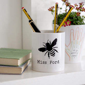 Bumble Bee Personalised Pen Pot