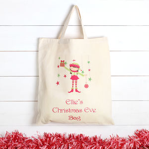 Personalised Girls Christmas Eve Bag - wrapping
