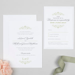 Eva Monogram Wedding Invitation