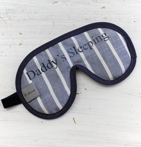 Men's Luxury Personalied Stripe Eye Mask