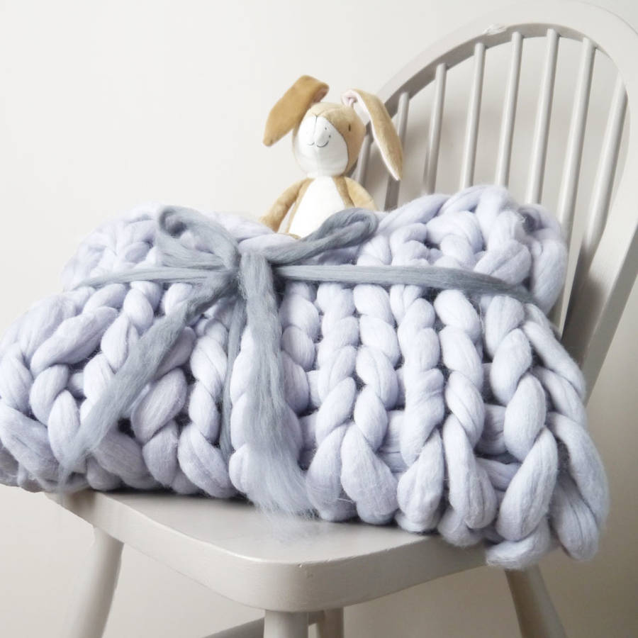 Super Chunky Knit Baby Blanket By Lauren Aston Designs