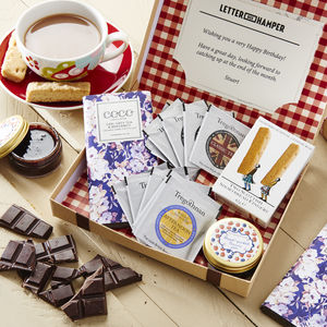 Afternoon Tea Letter Box Hamper With British Grown Tea - food gifts