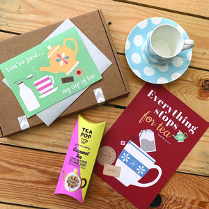 Tea Themed 'Thinking Of You' Letterbox Gift Box