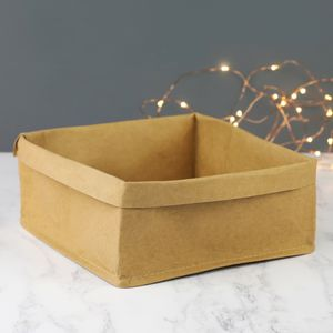 Medium Square Kraft Storage Bag - office & study