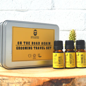 'On The Road Again' Men's Organic Grooming Travel Set