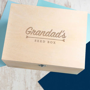 Personalised Gardening Seed Storage Box - gifts for grandfathers