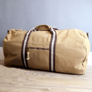 Personalised Vintage Canvas Holdall - gifts for teenagers