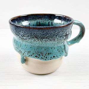 Swirly Mug In Dragon's Egg Glaze - tableware