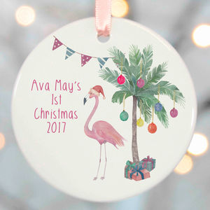 Flamingo Christmas Tree Decorations
