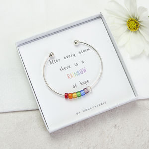 Sterling Silver Rainbow Bangle