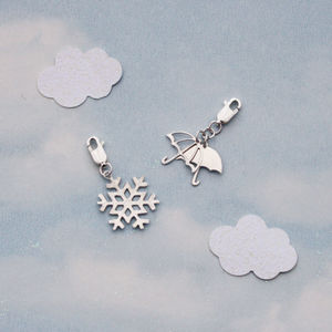 Handmade Silver Weather Charms