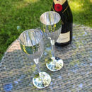 Silver Plated Hammered Champagne Flute Set