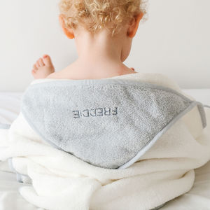 Personalised Premium Hooded Baby Towel - gifts for babies