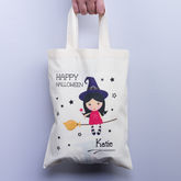 Halloween Personalised Witch Trick Or Treat Gift Bag - halloween