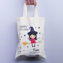Halloween Personalised Witch Trick Or Treat Gift Bag
