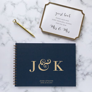 Personalised Initials Guest Book, Memory Book Or Album