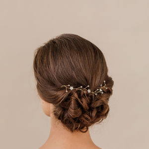 Hair Vine With Pearls And Flowers