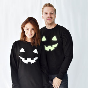 'Pumpkin Face' Halloween Unisex Sweatshirt Jumper