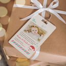 Baby's First Christmas Message From Santa Wooden Tag
