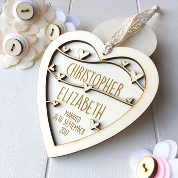 Personalised Wedding Or Anniversary Heart