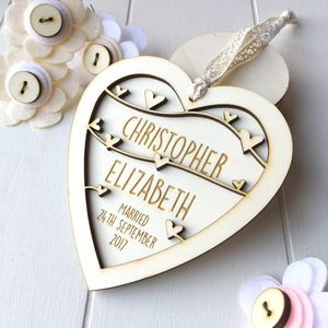 Personalised Wedding Or Anniversary Heart - wedding favours