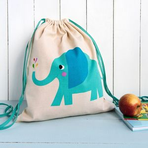Elvis The Elephant Drawstring Bag