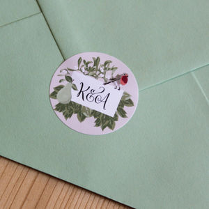 Personalised Festive Stickers - wedding favours