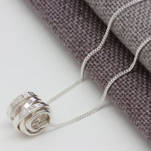 Personalised Silver Scroll Necklace - jewellery