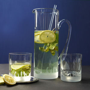 Golf Scene Crystal Cocktail Jug - tableware