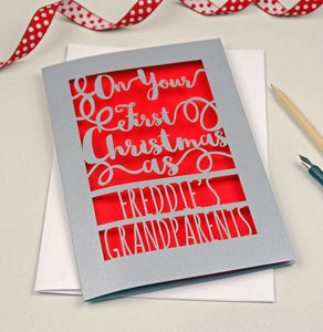 Personalised First Christmas Grandparents Card - personalised