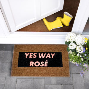 Pink Glitter Yes Way Rose Doormat - office & study