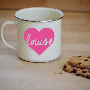 Personalised Heart Mug - camping