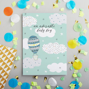 A New Baby Boy Card - new baby & christening cards