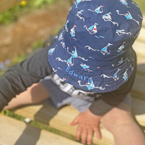 Personalised Children's Boat Bucket Hat