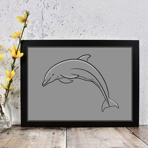 Dolphin Line Drawing Print