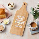 Personalised New Home Bamboo Chopping Board