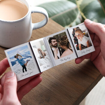 Wooden Photo Concertina Keepsake