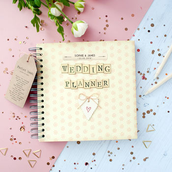 Wedding Planner Gift Box : personalised retro wedding planner journal in gift box by the little ...