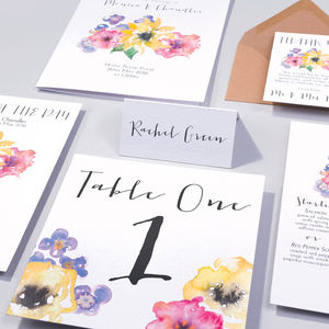 Table Plan, Number, Place Card, Menu : Spring Sonata