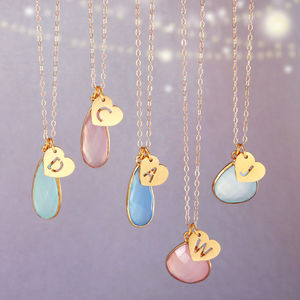 Personalised Pastel Gemstone Drops - necklaces & pendants