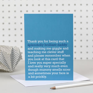 'Splendidly Brilliant Daddy' Card - cards & invitations