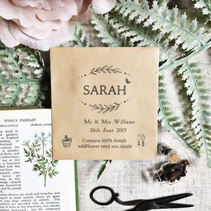 Wedding place cards notonthehighstreet wildflower seed packet wedding place card and favour wedding stationery solutioingenieria Images